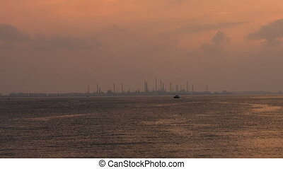 Jurong Island Industrial Plant - View of Jurong Island...