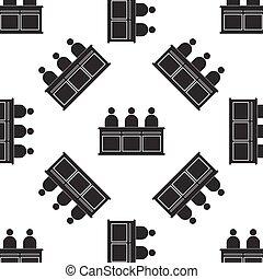 Jurors icon seamless pattern on white background. Vector Illustration
