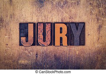 jury, concept, bois, letterpress, type