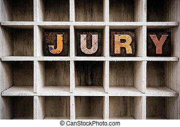 Jury Concept Wooden Letterpress Type in Drawer