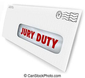 Jury Duty Envelope Summons Appear Court Legal Law Case -...