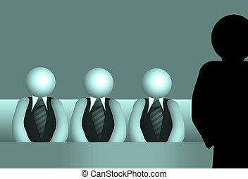 jury of three business people