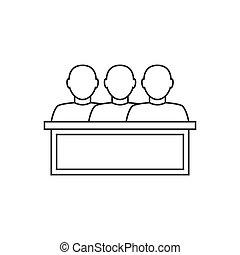 Jury thin line icon