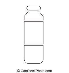 jus, bouteille, icône
