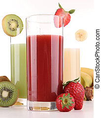 jus, isolé, fruits