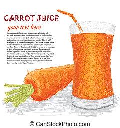 jus légume, carotte