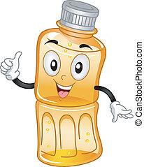 jus, mis bouteille, mascotte