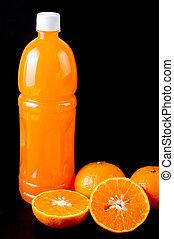 jus orange, bouteille