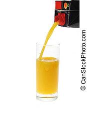 jus orange, verser