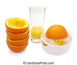 jus, préparation, manger, fruit, nourriture régime, orange, ...
