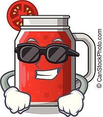 jus tomate, doux, caractère, verre, super, frais