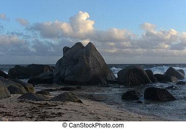 Just After Sunrise Seascape in North Aruba