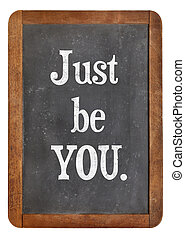 just be you advice on an isolated vintage slate blackboard
