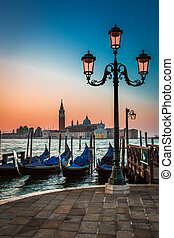Just before sunrise in Venice