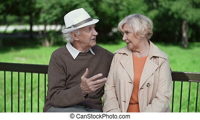 Just Beginning to Live - Close up of elderly couple enjoying...