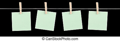 Just Fill Me In - Four blank green sticky notes held on a ...