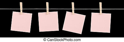 Just Fill Me In - Four blank pink sticky notes held on a ...