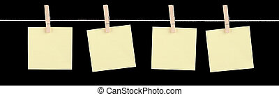 Just Fill Me In - Four blank yellow sticky notes held on a ...