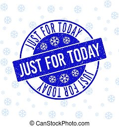 Just for Today Scratched Round Stamp Seal for Xmas