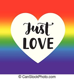 Just love Inspirational Gay Pride poster