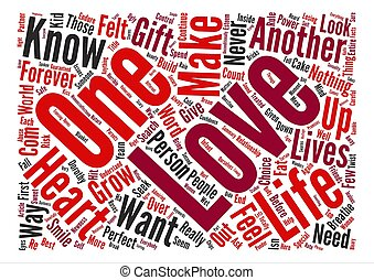 Just love me text background word cloud concept