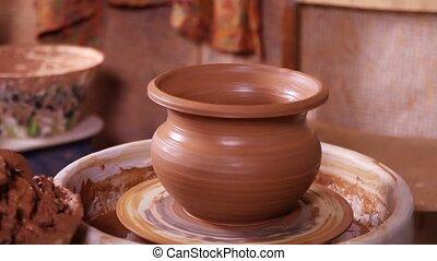 Just made Potter's pot close-up - Just made Potter's pot...