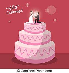 just married cake dessert