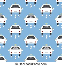 Just Married car pattern