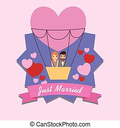 Just married couple design