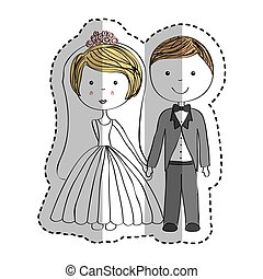 just married couple icon
