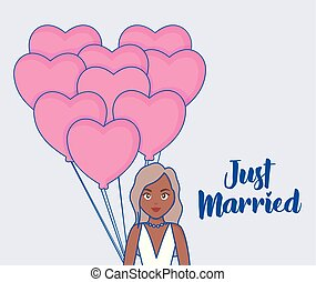 just married design