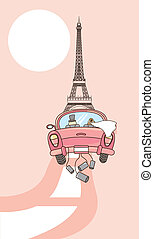 just married - husbands to paris, just married. vector...