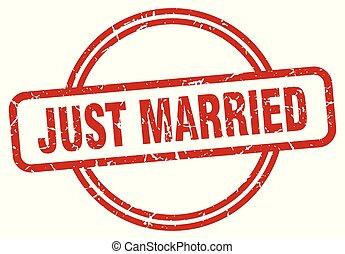 just married grunge stamp