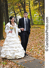 just married in the park