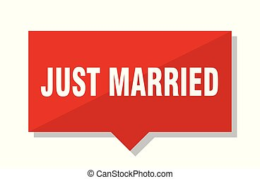 just married red tag - just married red square price tag