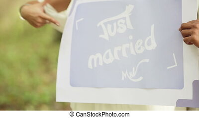 Just married - Rite of family reunification with a sand...