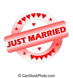 Just married stamp