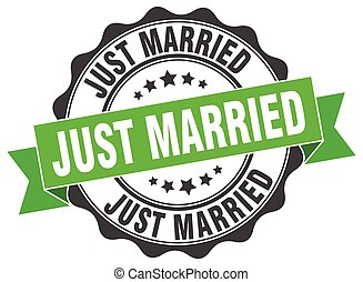 just married stamp. sign. seal