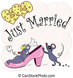 Just Married - The newly married couple of mouses