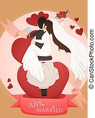 Just married wedding invitation card design