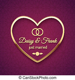 Just Married Wedding Sign - Just married wedding sign with...