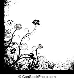 just mono floral - floral black and white mono background ...