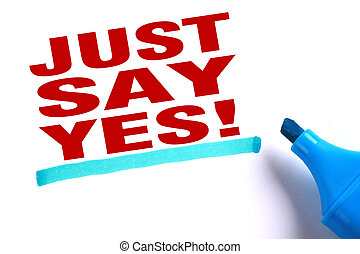 Just say yes text and blue line with blue marker aside is on...