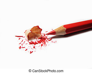 Just sharpened red pencil