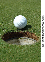 Just short - Just stopping short of the hole
