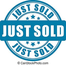 Just sold vector sign
