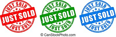 Just sold vector stamp