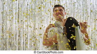 juste marié, coupler danse
