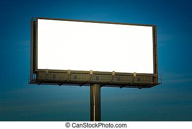 juste, texte, ajouter, panneau affichage, vide, ton