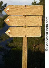 juste, texte, panneau affichage, ajouter, bois, vide, 2, ton